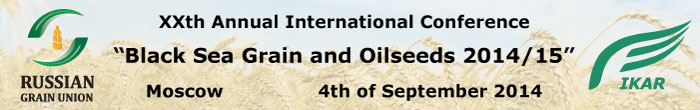 XXth Annual International Conference Black Sea Grain and Oilseeds 2014/15